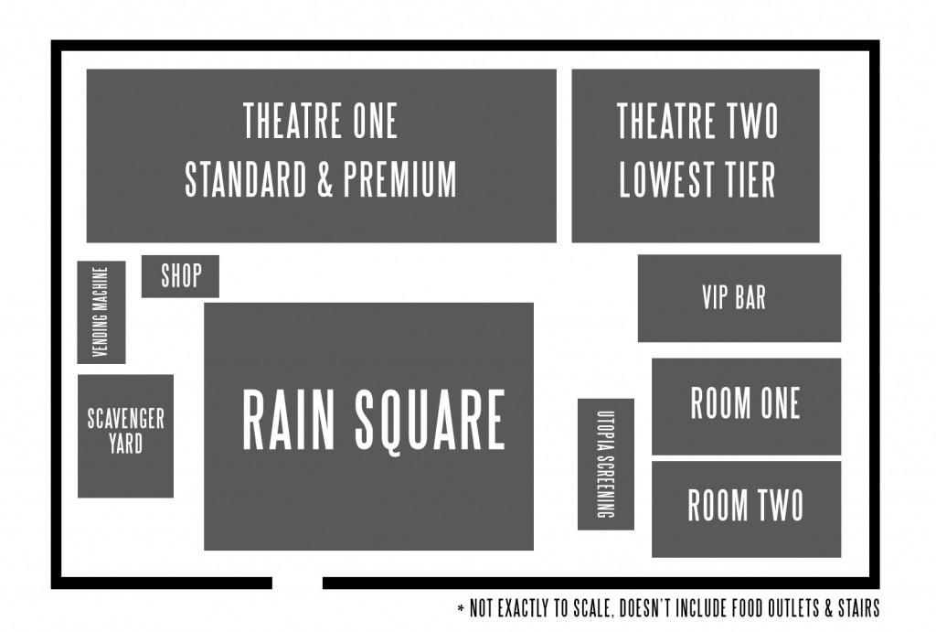 Secret Cinema Blade Runner Floor Plan